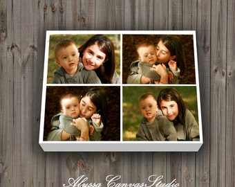 Cotton Canvas Photo Collage Gift, Personalized Photo Collage, Canvas Family Photo Collage, Best Friend Gift Idea, Christmas Mom Gift, Prints