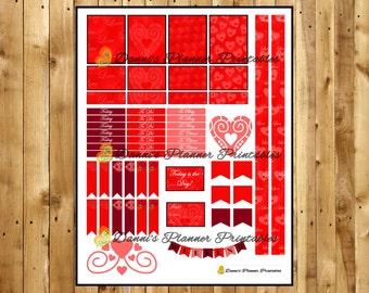 Valentines Day Printable Planner Sticker Kit!