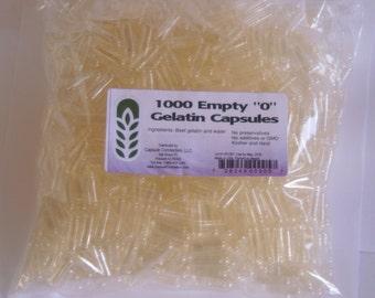 Empty gelatin capsules 1000 count bag