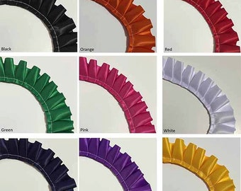 Pleated Ribbon - Box Pleat - PER 10 METRES - Single Satin Ribbon - 10 colours