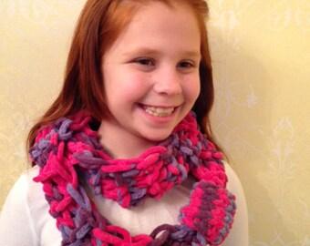 Infinity scarf/ sweet puff