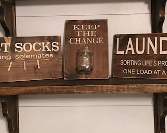 Laundry room sign set