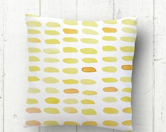 Cushion case Nordic style - Pillowcase - cushion soft and warm tonalities -  design painted with watercolors - Yellow pillowcase