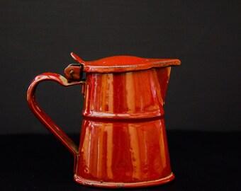 SALE!!! Small Antique Enamel coffee pot