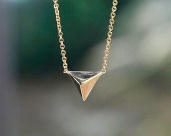 Zen Necklace, 14k gold