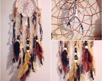 "5"" Hoop Elk horn Dream Catcher"
