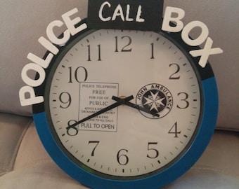 Doctor Who Clock, Wall Clock, Tardis Clock