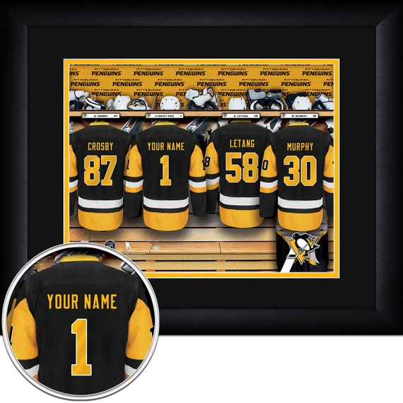 home decor stores pittsburgh pittsburgh penguins nhl framed personalized locker room hockey 11222