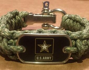 U. S. Army Star Logo Paracord Survival Bracelet