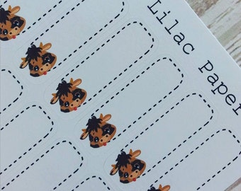 28 Cute Cow Box Planner Stickers