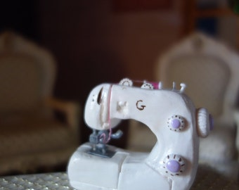 Sewing machine modern polymer clay