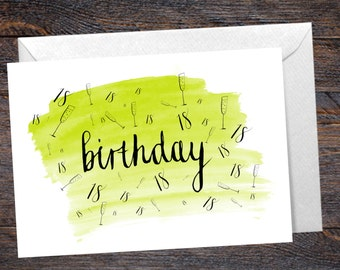 18th Birthday Card with Champagne Detail