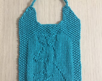 Bib Knitted Kangaroo Design Bibs
