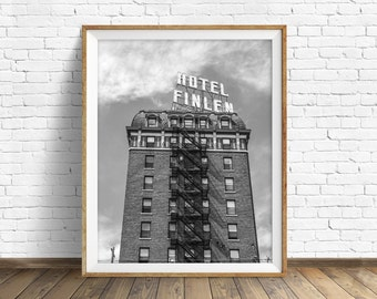 "black and white photography, large art, printable art, instant download printable art, digital download, wall art prints, art - ""The Finlen"""