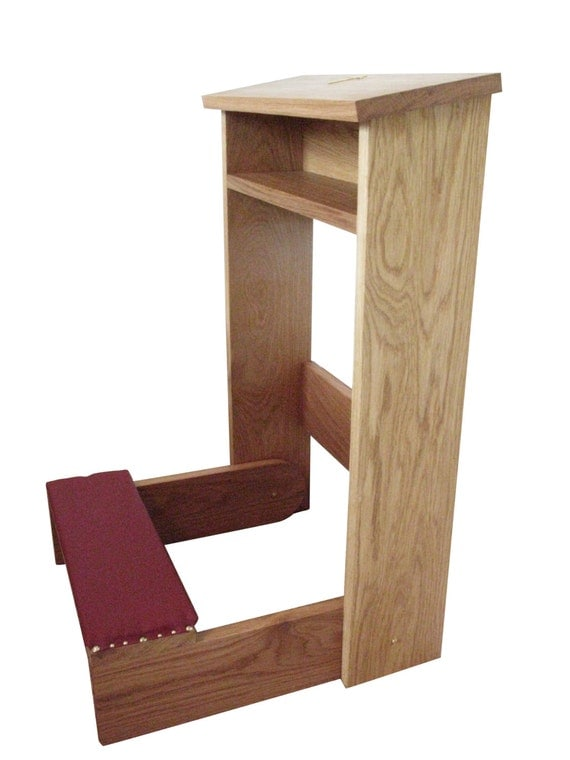 Padded Hand Crafted Foldable Church Prayer Kneeler
