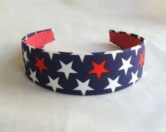 Stars for You Headband by FunPrintColorado, red and blue,4th of July,july 4,patriotic,stars,america military,hairband,