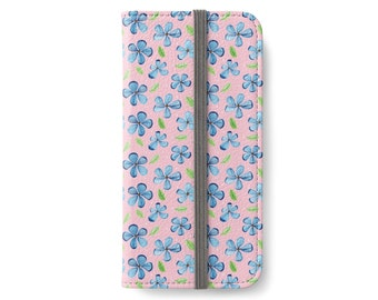 Floral iPhone Wallet Case, iPhone 6 Wallet Case, iPhone 6 Plus Wallet Case, iPhone 6s Wallet Case, iPhone 6s Plus Wallet Case