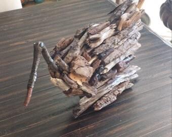 Driftwood shore bird