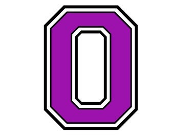 Iron on purple number 0 for t shirt transfer INSTANT DOWNLOAD