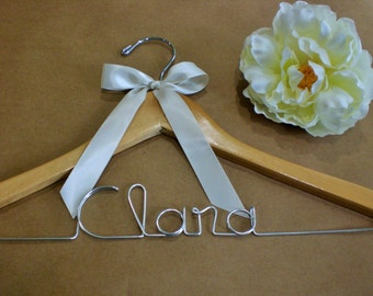 Grand Opening, Only 10.00/Personalized Hanger/Personalized Wedding Hangers//Weddings/Bride/Personalized hangers/Wedding Dress Hangers/ Bride