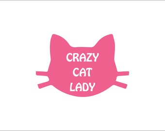 Crazy cat lady vinyl decals, cat mom yeti decal, cat yeti sticker, vinyl car decal sticker, animal mom, animal lover, cat lover gift