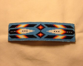 Native American beaded barrette