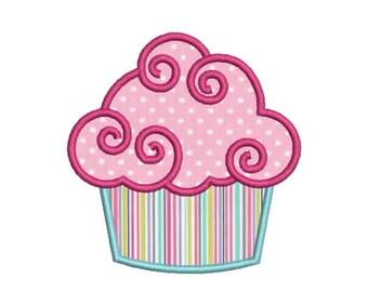 SALE 50% 9 Size Cupcake Applique Embroidery Designs, Machine Embroidery Designs - 8 File Fomats