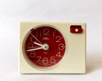 Vintage 1980s Alarm clock PRIM czechoslovakia bakelite retro old desk table