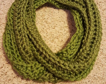 Crochet ribbed Infinity Scarf, Chunky Scarf, Infinity Scarf, Circle Scarf, Cowl