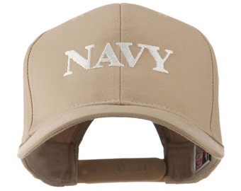 Standard Font of Navy Embroidered Cap