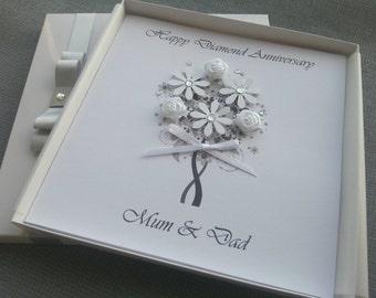 Parents 60th wedding anniversary card