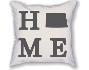 North Dakota Home State Pillow