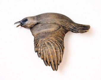 Wooden Raven wall hanging