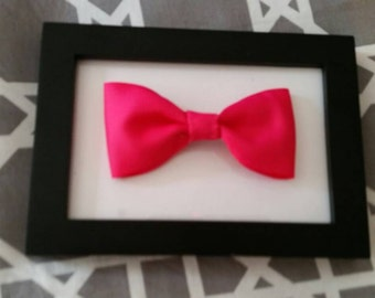 Pink bow with alligator  clip