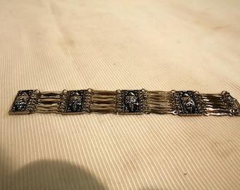 """Vintage Taxco sterling silver 8"""" bracelet"""