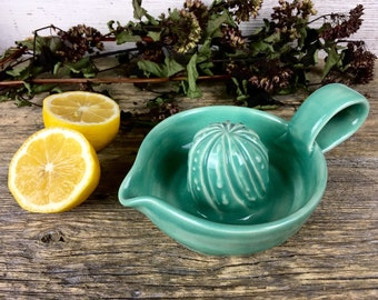 Citrus Juicer Glossy Mint handmade ceramic