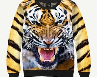 Tiger - Men's Women's Sweatshirt | Sweater - XS, S, M, L, XL, 2XL, 3XL, 4XL, 5XL