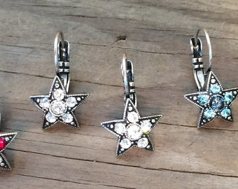 Star Pave Earrings