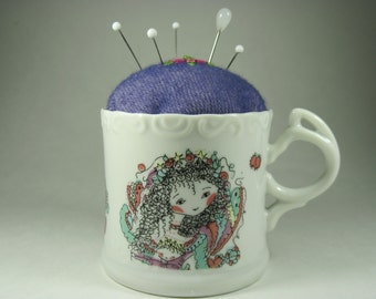 Pin Cushion in Sweet Angel Wishes Cup