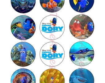 Finding Dory Edible Cupcake/Cookie Toppers for Birthday Party or other Special Occasion!