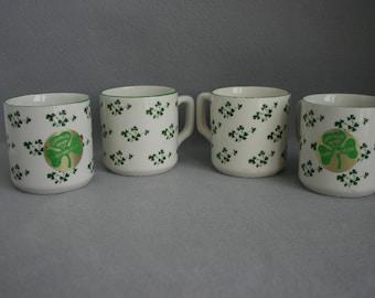 Carrigaline Pottery Shamrock Coffee Mugs