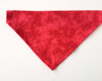 Red Flannel Dog Bandana size L