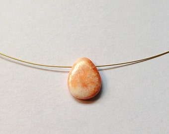 Pink Web Jasper Necklace, pretty jasper drops on flexi wire.