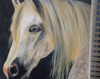 Beautiful horse acrylic painting
