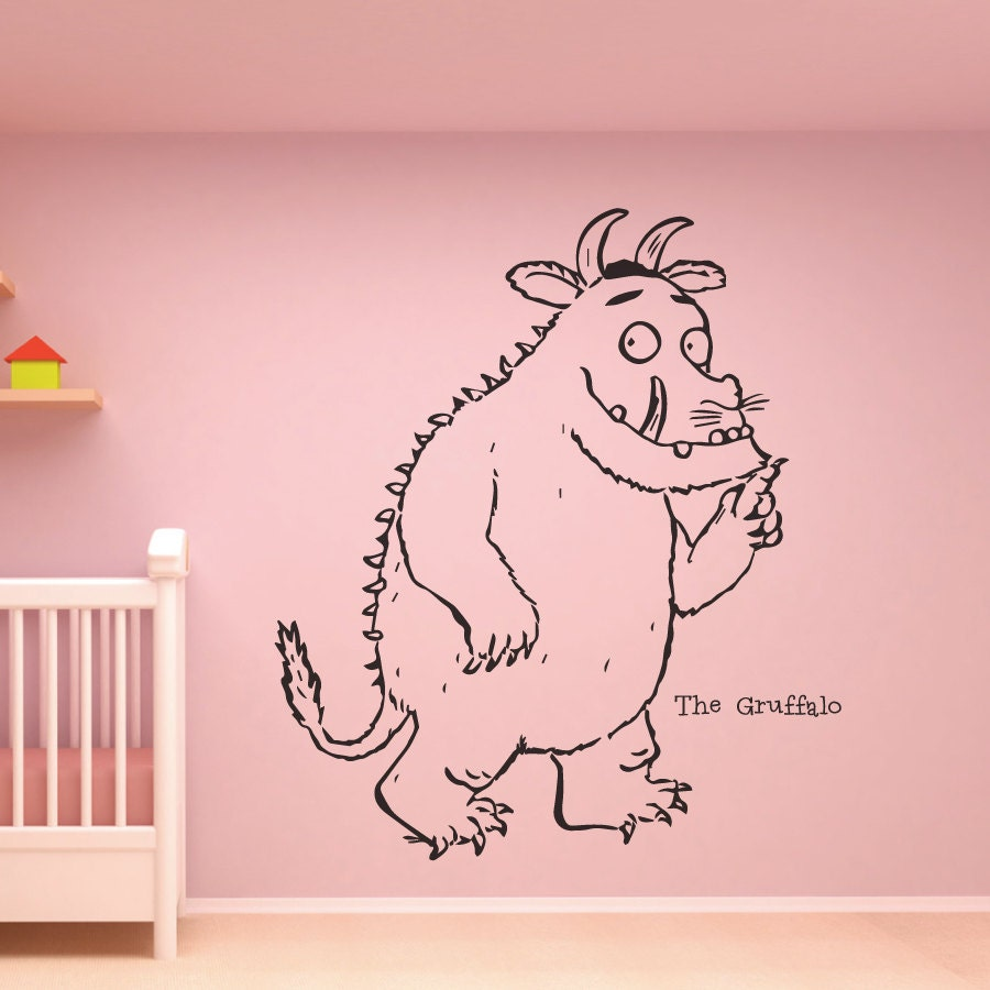 The gruffalo cut vinyl nursery wall sticker decal stencil zoom amipublicfo Image collections
