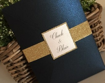Gold geometrics are the latest trend in wedding design. Printed on thick cardstock with premium inks