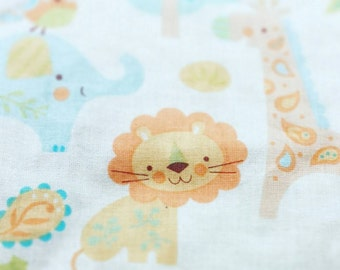 Safari animals baby blanket Minky lions elephants giraffes satin