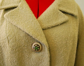 Vintage Mint Green Wool Full Length Coat