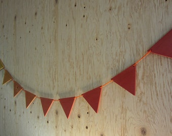 Pennants stained wood