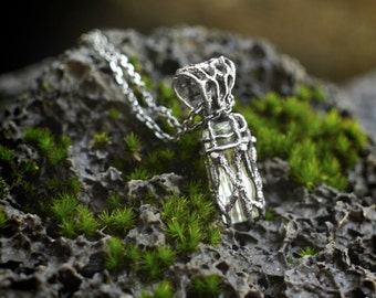 "Ready Unique Silver Aquamarine Pendant ""Elixir of life"",Aquamarine Jewelry, Gemstone Pendant, Aquamarine Necklace, March Birthstone Pisces"